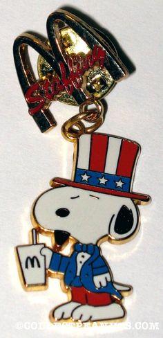 American Snoopy Staffing Pin McDonald's Restaurants