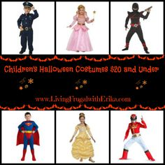 Children's Costumes $20 and Under for Halloween