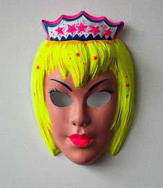 vintage princess mask by collegeville