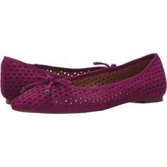 Franco Sarto Shari (Bright Fuchsia) Women's Flat Shoes ($32) ❤ liked on Polyvore featuring shoes, flats, pink, pointy-toe flats, franco sarto flats, bow flats, pointed toe bow flats and leather pointed toe flats