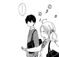 Manga couple black and white happy Manga Anime, Anime Art, Onii San, Tsubaki Chou Lonely Planet, Anime Tumblr, Anime Lindo, Anime Expressions, Manga Couple, Illustration