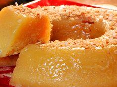 Receita de Bolo de Coco tipo Pudim - bolo de coco, facílimo de fazer e fica levinho.