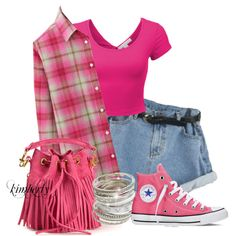 Flannel by cavell on Polyvore featuring Uniqlo, Converse, Yves Saint Laurent and Wet Seal