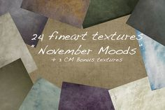 November Moods/24+(3 extra) textures by Dirk's texture pit on @creativemarket