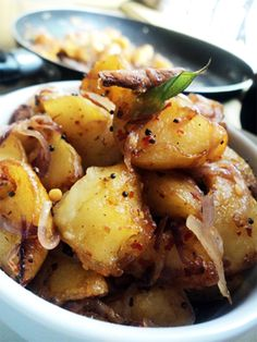 Tempered Spicy Potatoes recipe.  #potatoes #spicy - Foodista.com