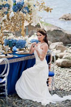 30 Flowing Grecian-Styled Wedding Dresses | HappyWedd.com