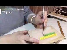 つまみ細工の制作タイムラプス01 (Hairpin)