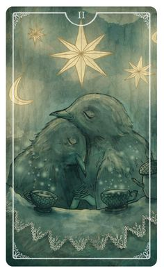 Two of Cups - Ostara Tarot by Eden Cooke