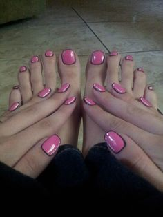 This Pink Cartoon Mani & Pedi ate up my whole day. It was worth it.