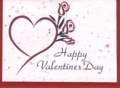 Biodegradable Plantable Valentines Day Card $3.99