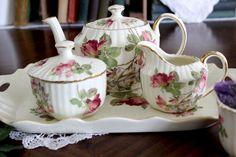 Demitasse Teacups Saucers Pink Roses Transferware Teapot Sugar Creamer Tray Cups 15286 In 2020 Tea Pots Tea Cup Saucer Tea Cups