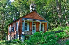 Witmer One-Room Schoolhouse. This looks like the type of old brick that my house is made up of. Pretty old....