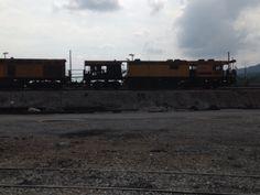 Loram rail grinding engine. Kingsport Tn 9/12/15