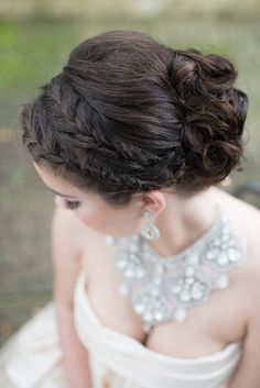 classic updo wedding hairstyle; photo: LH Photography