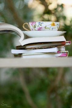 books and tea...all I need!