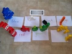 lego color-sorting game