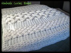 Cable Crochet Afghan | HUGH SALE on Crochet Cable Afghan Aran by SideRitz on Etsy