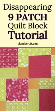Quilt Block: Disappearing 9 Patch Block Tutorial The Disappearing 9 Patch Quilt Block is an ever so easy quilt block pattern to make. Our free tutorial takes you step by step through the process. A simple quilt block to make. Charm Pack Quilt Patterns, Beginner Quilt Patterns, Patchwork Patterns, Quilt Tutorials, Quilting Patterns, Quilting Tips, Quilting Projects, Free Quilt Block Patterns, Modern Quilting