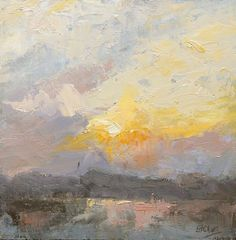 Approaching Sunset, Kerry. Oil on board by Vivienne St Clair