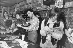 First of a set of delightful photos from the same record shop signing  in 1988 (thanks Bjorn Wahlberg for all of them)