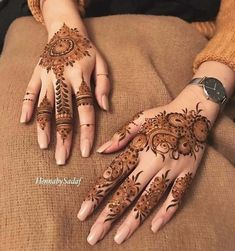 Colored Mehndi Designs look beautiful and awesome.These are fully colored are made with colored cone mehndi, these cone can be found easily. Henna Hand Designs, Mehndi Designs Finger, Indian Henna Designs, Mehndi Design Pictures, Mehndi Designs For Fingers, Beautiful Henna Designs, Latest Mehndi Designs, Mehndi Designs For Hands, Henna Tattoo Designs