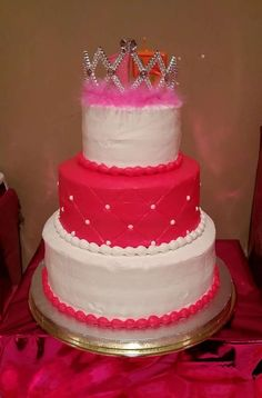 Quinceanera birthday party cake! See more party planning ideas at CatchMyParty.com!