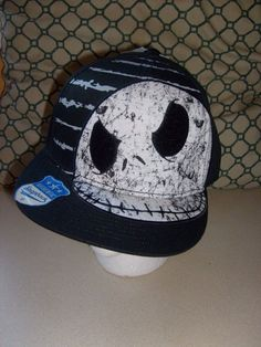 32d694b5021 DISNEY NIGHTMARE BEFORE CHRISTMAS JACK SNAPBACK ADJUSTABLE OS FLAT BRIM HAT  CAP  SPENCERS  BaseballCapTRUCKET
