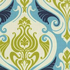 Sea Damask - specially treated fabric suitable for outdoor use. UV, stain and water resistant.