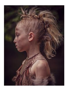 Great hair by Joanna Bernacke for kids fashion fall 14 Back to the Nature story