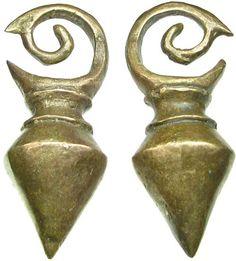 Dayak Brass Ear Weights. So pretty!
