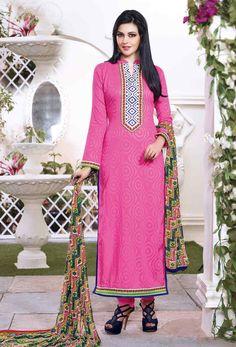 #Pink #Cotton #Long #Salwar #Kameez #nikvik  #usa #designer #australia #canada #freeshipping #pakistani #suits