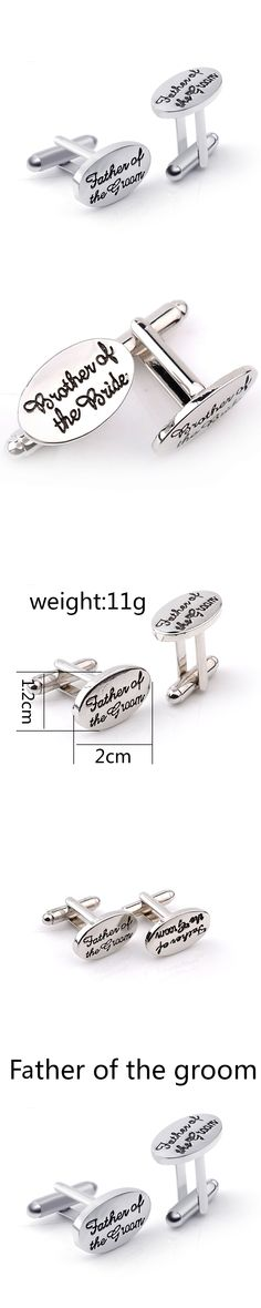 2017 Special Offer New Classic Gemelos Para Camisas Gemelos Tie Clip French Men Cufflinks Letter Father Of The Groom Elliptical