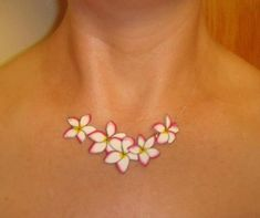 plumeria+tattoo | Plumeria Hawaiian Tattoo Necklace Tattoo Jewelry. $20.00, via Etsy.