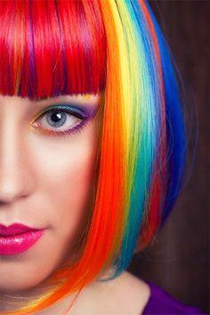 Rainbow Hair Tutorial