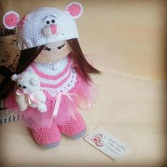 We welcome you in our creative studio KnittAngel! Product Name: PATTERN Crochet PATTERN (INSTRUCTION) Crochet Toy PATTERN WRITE WITH TERMINOLOGY Doll Lolita+ little bear Author pattern Elena Lozan This pattern in PDF format. Document size 1.58 MB English The size of the toy is 40 cm