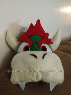 Cool DIY Bowser (King Koopa) Halloween Costume for a Boy: This year my 4 year old son Julian said he wanted to be Bowser (King Koopa) for Halloween. I looked for it everywhere online. King Koopa Costume, Bowser Costume, Halloween Birthday, Holidays Halloween, Halloween Diy, Homemade Costumes, Diy Costumes, Costume Ideas, Mario Costume Diy