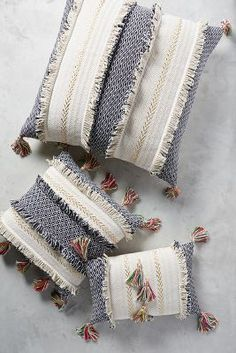 Tasseled Retrograde Pillow | Anthropologie