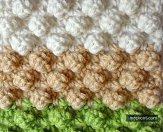MyPicot | Free crochet patterns Crochet Textured Bobble stitch: Diagram + step by step instructions