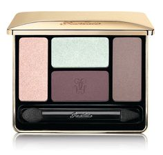 Guerlain Spring Colour Écrin 4 Couleurs Eyeshadow, $67 With these brilliant colours, you can depict all the sweetness of spring or go Icelandic with the northern lights: metallic aquatic green, iridescent ivory, satiny nude and matt violet plum. www.guerlain.com