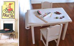 | Mesas de juego para la decoración de habitaciones infantiles