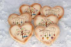 Stamped Valentine Cookies      http://www.tamirenascookies.blogspot.com