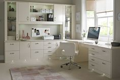 Luxurious And Awesome Home Office Desk Furniture Styles. White Mahogany L Shape Wall Mounted Luxury Office Computer Desk Come With Base Modern Desk Lights And Storage Modern Drawers Ans Racks. White Home Office Furniture Zen Home Office, Home Office Furniture Uk, Home Office Storage, Home Office Desks, Office Decor, Office Ideas, Office Designs, Furniture Ideas, Gothic Furniture