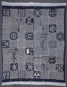 Inscribing Meaning: Nsibidi / National Museum of African Art African Textiles, African Fabric, African Patterns, African Interior Design, African Design, Textile Patterns, Textile Art, Geometric Artists, Peruvian Textiles