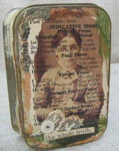 Altoid tin shrine or shadow box