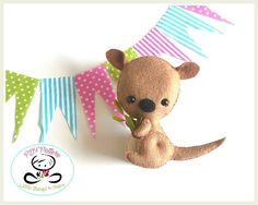 Baby Kangaroo PDF sewing pattern-DIY-Kangaroo toy