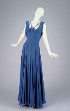 1935 silk chiffon and silk crepe dress and slip by Elizabeth Hawes, New York