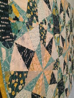 Sea Glass Quilt made with JardinAnglaise Collection from Woven Modern Fabric Gallery Quilt Making, Fabric Patterns, Sea Glass, Quilts, Blanket, Gallery, Artist, Collection, Quilt