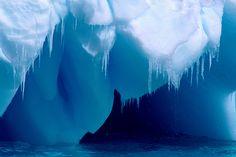 Antarctica: glacial cave