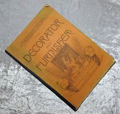 1884 #Decorator & #Furnisher #antique #magazine #interior #decorator #interiors #furniture #vintage #paper #architectural #ephemera #evt by OakwoodView