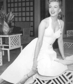 Marilyn at Johnny Hyde's home, May 1950
